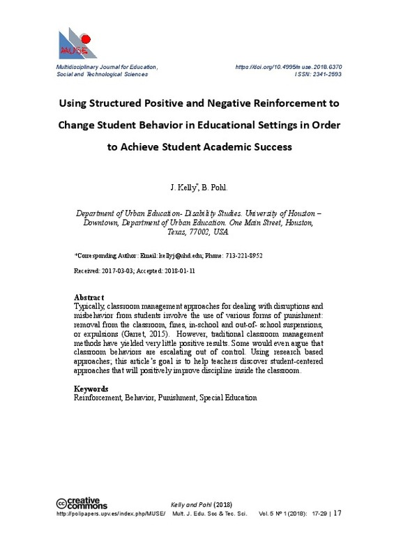 Using Structured Positive and Negative Reinforcement to Change