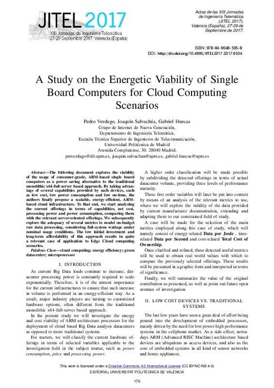 A Study on the Energetic Viability of Single Board Computers for