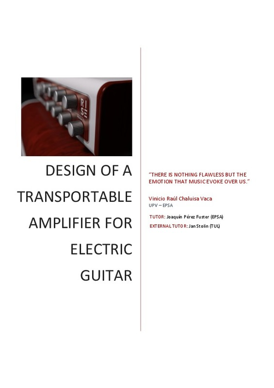design of a transportable amplifier for electric guitar