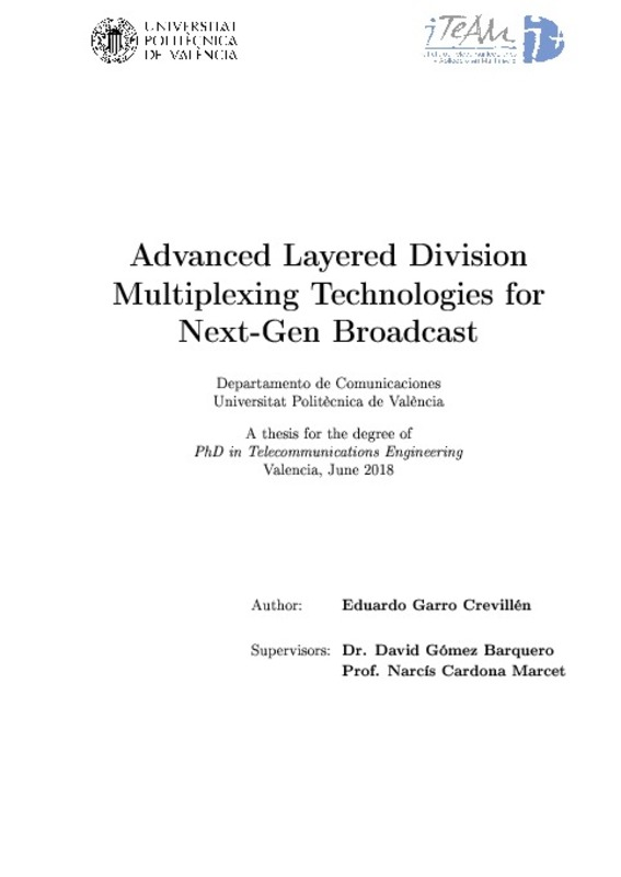 Advanced Layered Divsion Multiplexing Technologies for Next-Gen