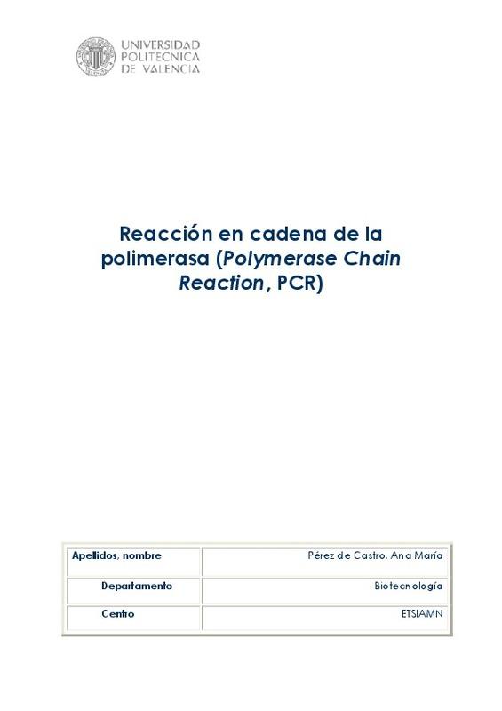 Reacción en cadena de la polimerasa (Polymerase Chain