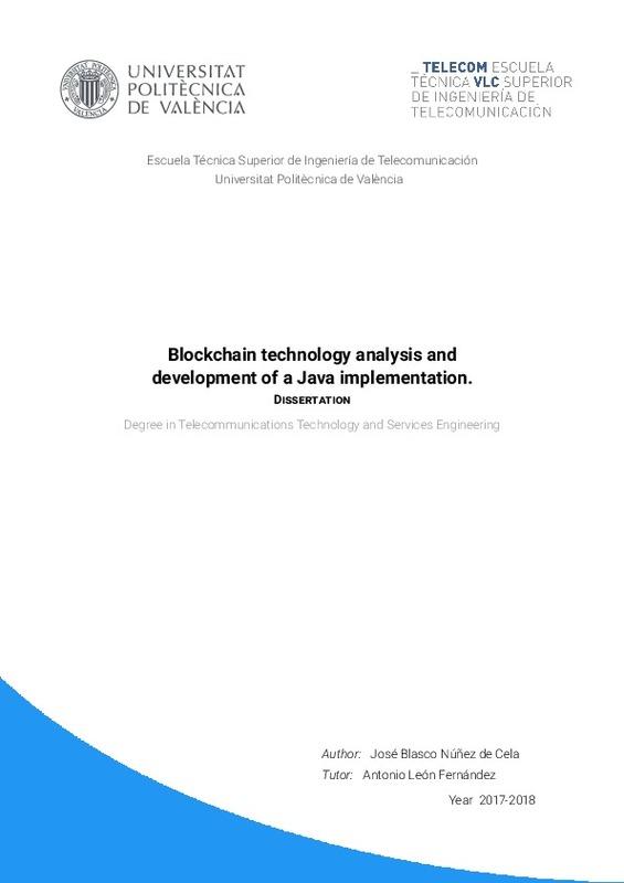 Análisis de la tecnologia Blockchain y desarrollo de una