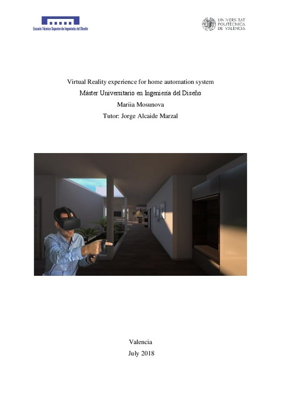 Virtual Reality experience for home automation system Máster