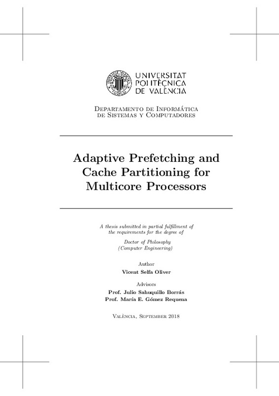 Adaptive Prefetching And Cache Partitioning For Multicore Processors