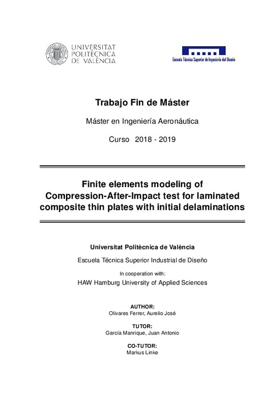 Finite element modeling of Compression After Impact test for