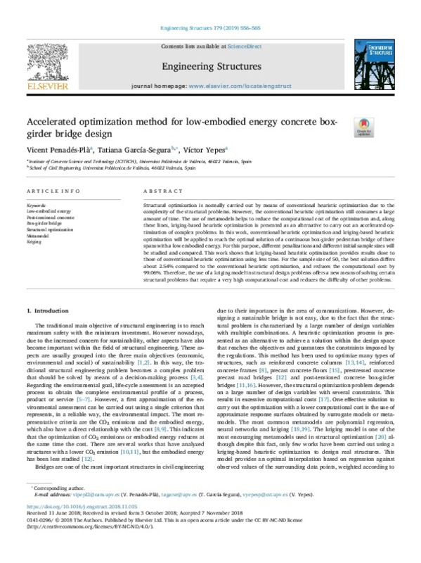 Accelerated optimization method for low-embodied energy