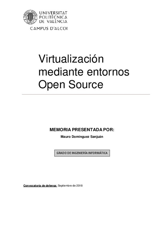 Virtualización mediante entornos Open Source