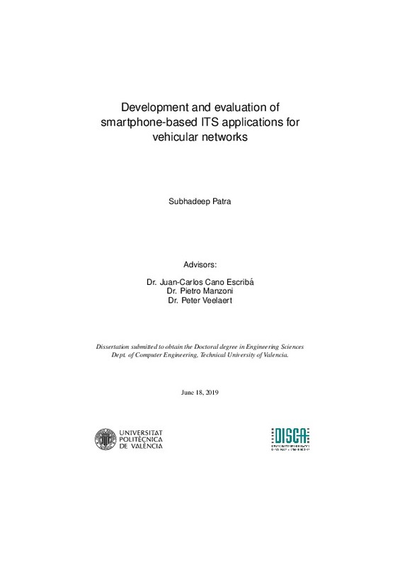 Development and evaluation of smartphone-based ITS