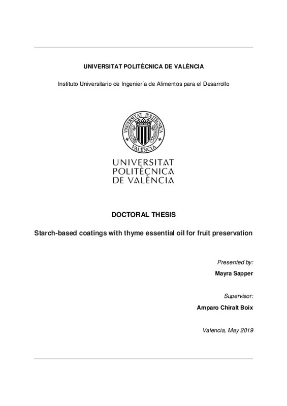 DOCTORAL THESIS Starch-based coatings with thyme essential