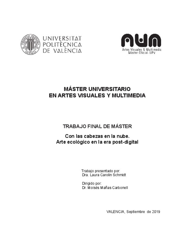 Máster Universitario En Artes Visuales Y Multimedia