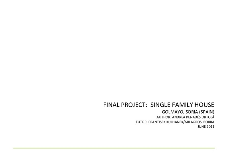 FINAL PROJECT: SINGLE FAMILY HOUSE
