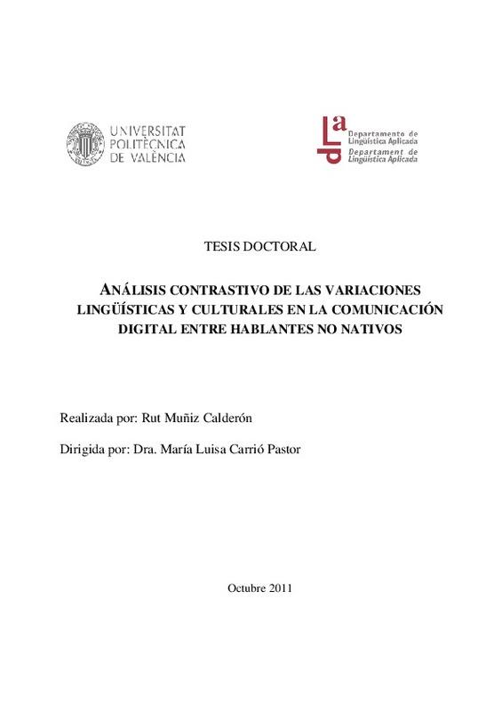 d0a367d0 TESIS DOCTORAL ANÁLISIS CONTRASTIVO DE LAS VARIACIONES LINGÜÍSTICAS Y  CULTURALES EN LA COMUNICACIÓN DIGITAL ENTRE HABLANTES