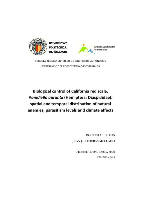 Biological control of California red scale, Aonidiella