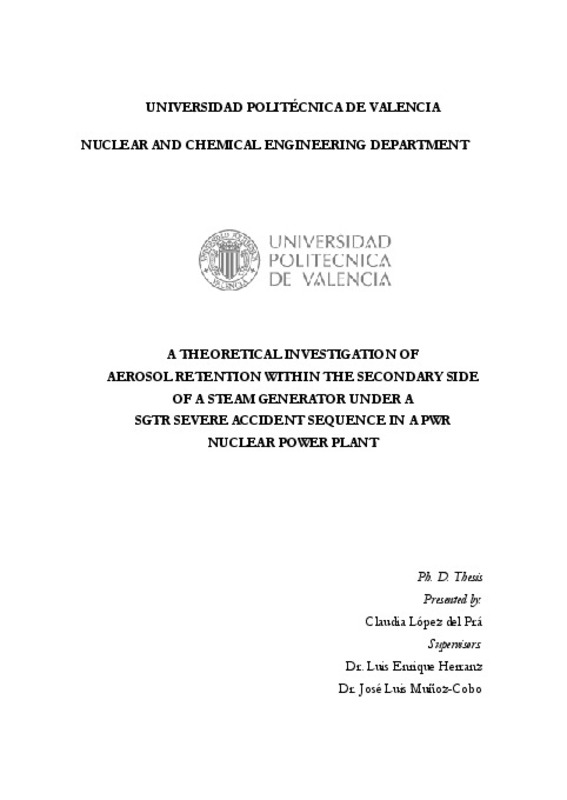 UNIVERSIDAD POLITÉCNICA DE VALENCIA NUCLEAR AND CHEMICAL