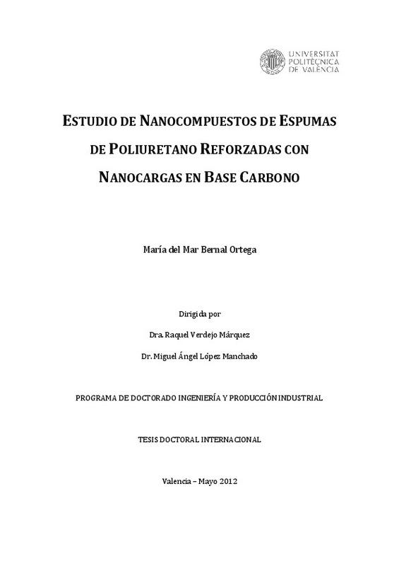 ESTUDIO DE NANOCOMPUESTOS DE ESPUMAS DE POLIURETANO