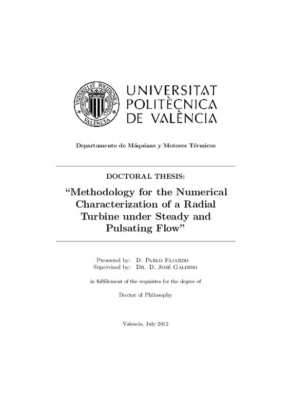 Methodology for the Numerical Characterization of a Radial