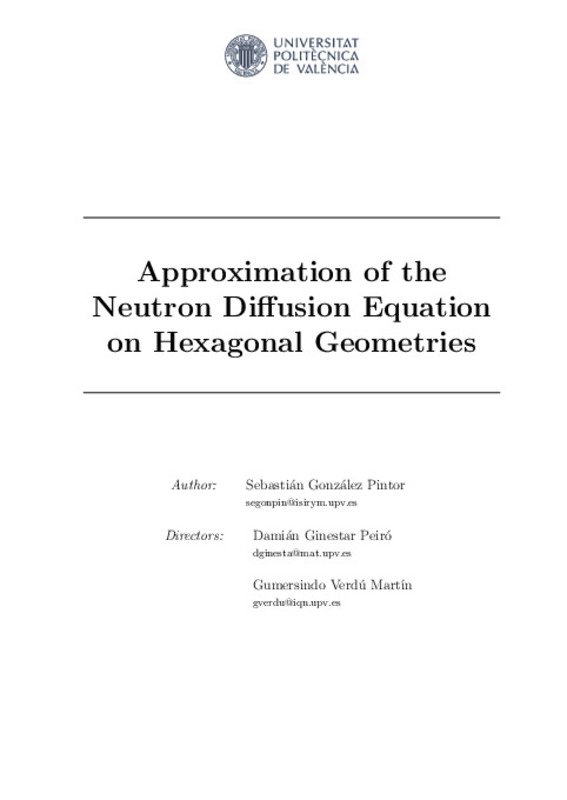 Approximation of the Neutron Diffusion Equation on
