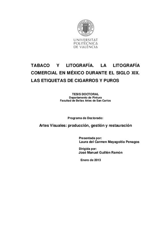 ddaa2fa7468d LA LITOGRAFÍA COMERCIAL EN MÉXICO DURANTE EL SIGLO XIX. LAS ETIQUETAS DE  CIGARROS Y PUROS