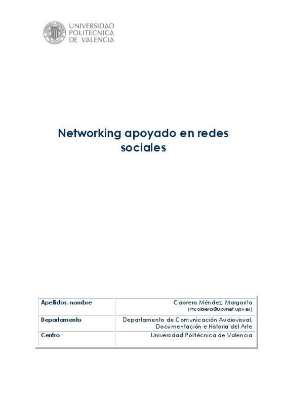 Networking apoyado en redes sociales