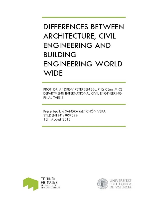 DIFFERENCES BETWEEN ARCHITECTURE, CIVIL ENGINEERING AND
