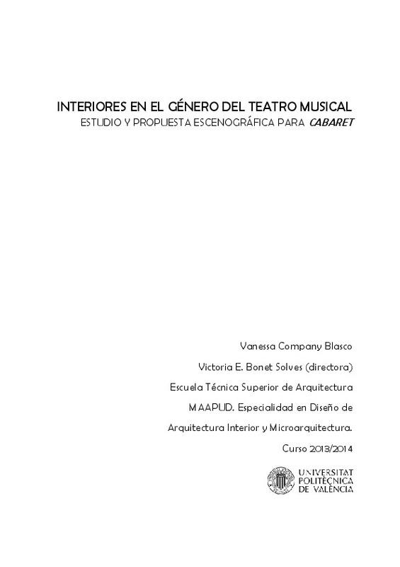Interiores En El Género Del Teatro Musical