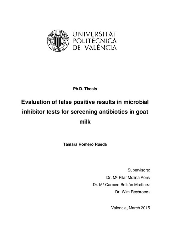 Evaluation of false positive results in microbial inhibitor tests