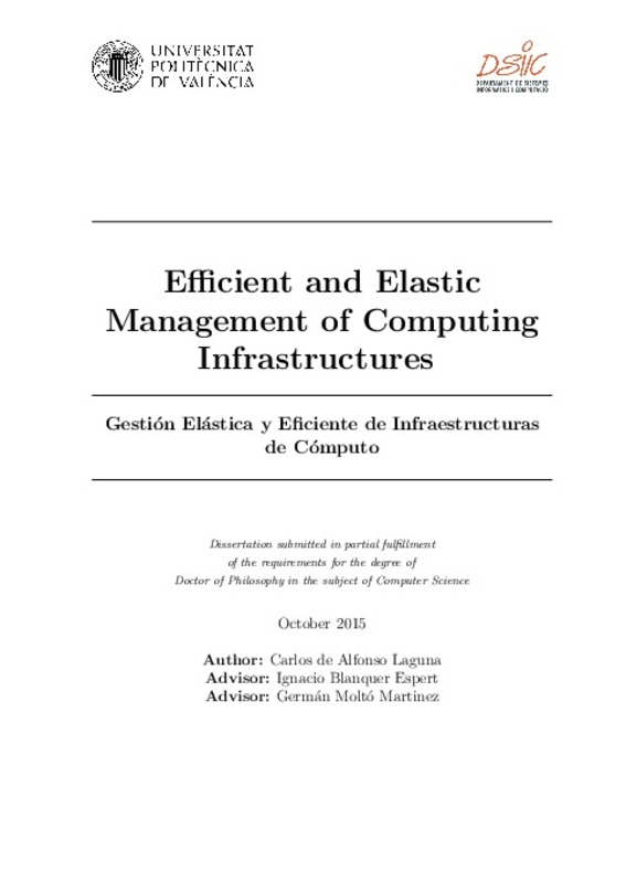 Efficient and Elastic Management of Computing Infrastructures