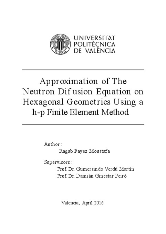 Approximation of The Neutron Dif usion Equation on Hexagonal