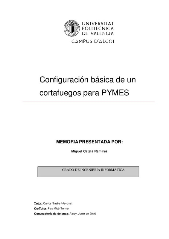 Configuración básica de un cortafuegos para PYMES