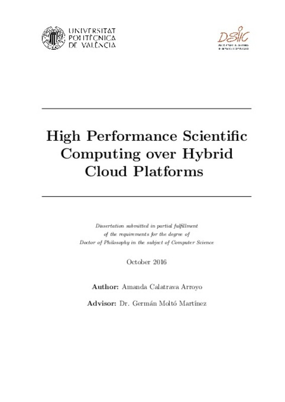 High Performance Scientific Computing over Hybrid Cloud