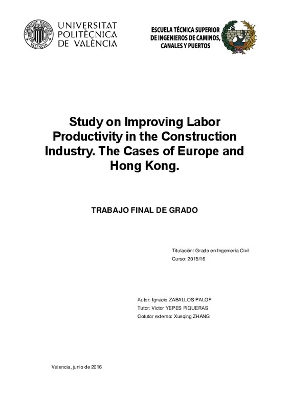 STUDY ON IMPROVING LABOR PRODUCTIVITY IN THE CONSTRUCTION INDUSTRY