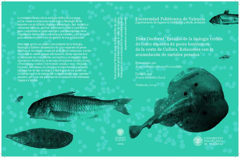 """514a9628e8f0 Tesis Doctoral """"Estudio de la biología trófica de cinco especies de peces  bentónicos de la costa de Cullera. Relaciones con"""