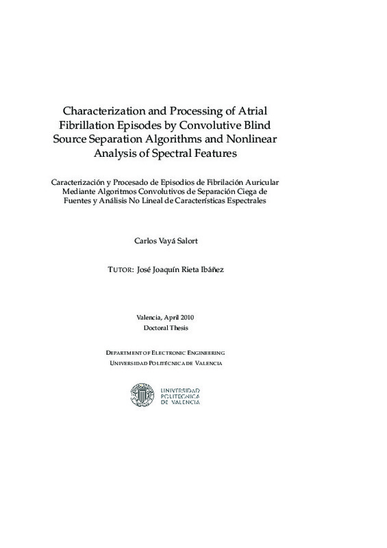 Characterization and Processing of Atrial Fibrillation Episodes by