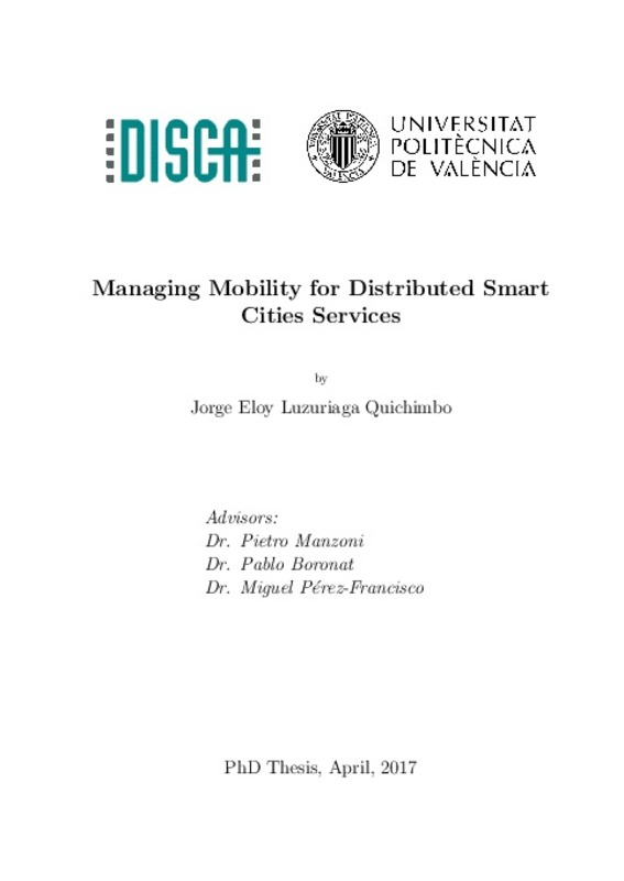Managing Mobility for Distributed Smart Cities Services