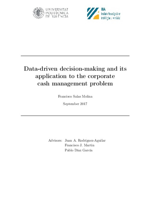 Data-driven decision-making and its application to the